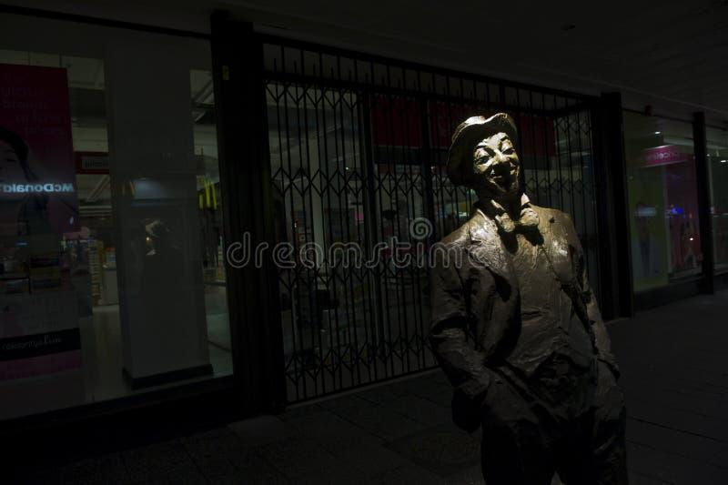 Roy 'Mo' Rene Memorial at night royalty free stock photo