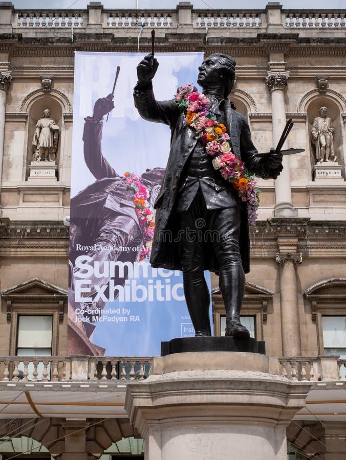 Royal Academy des arts construisant, Chambre de Londres Burlington, photographiée pendant l'exposition annuelle d'été images libres de droits