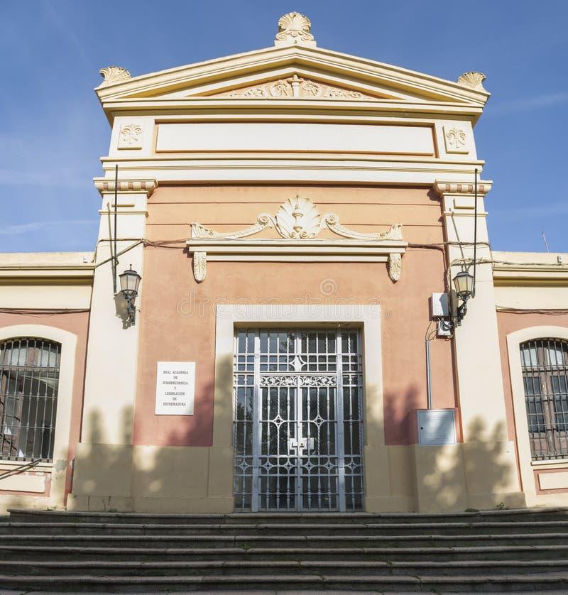 Royal Academy of Jurisprudence and Legislation of Extremadura, Spanje royalty-vrije stock afbeelding