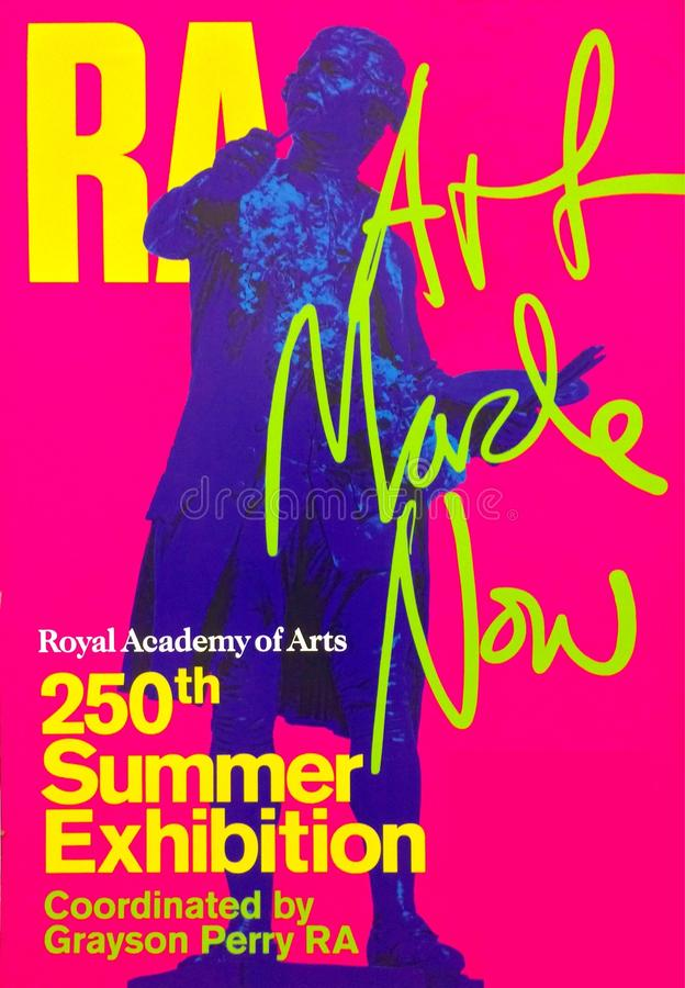 Royal Academy Summer Exhibition Poster stock image