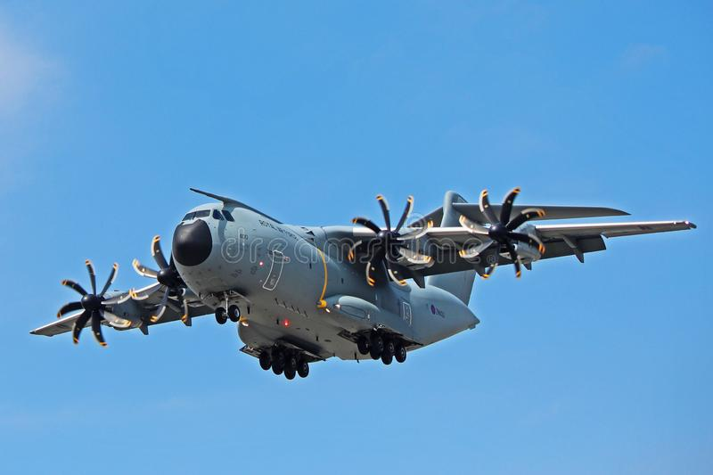 Royal Air Force Airbus A400M On Final Approach image stock