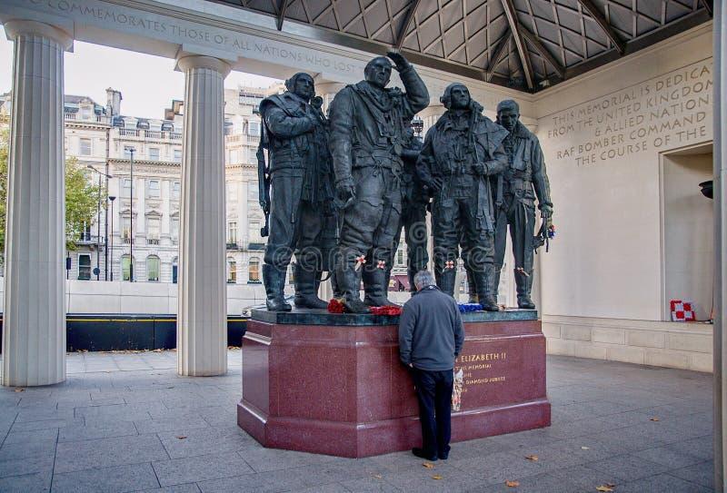 Royal Air Force bombowiec rozkazu pomnik zdjęcie royalty free