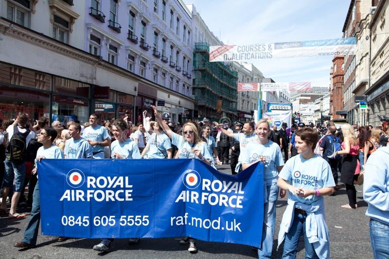 Royal Air Force in Brighton Gay Pride 2011 stock image