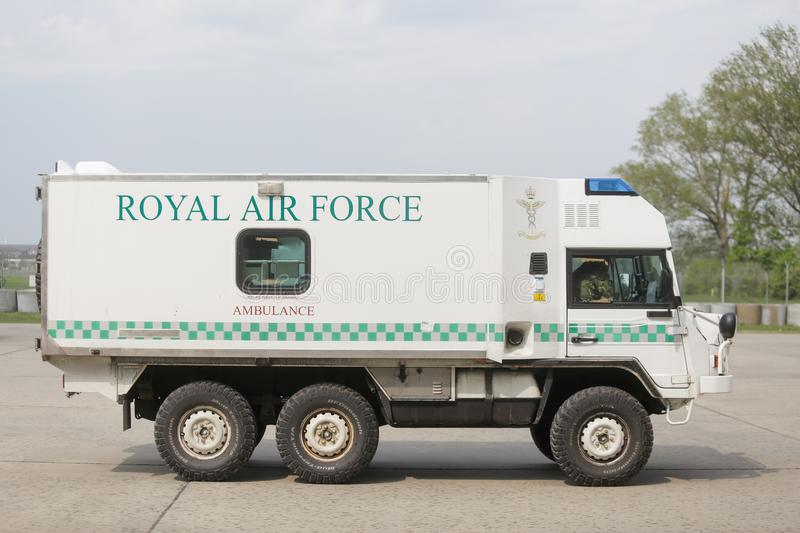 Royal Air Force-Krankenwagen stockbild