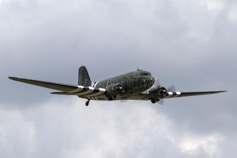 Royal Air Force RAF bitwa Brytania lota Douglas Pamiątkowy C-47 Dakota DC-3 ZA947 obraz stock