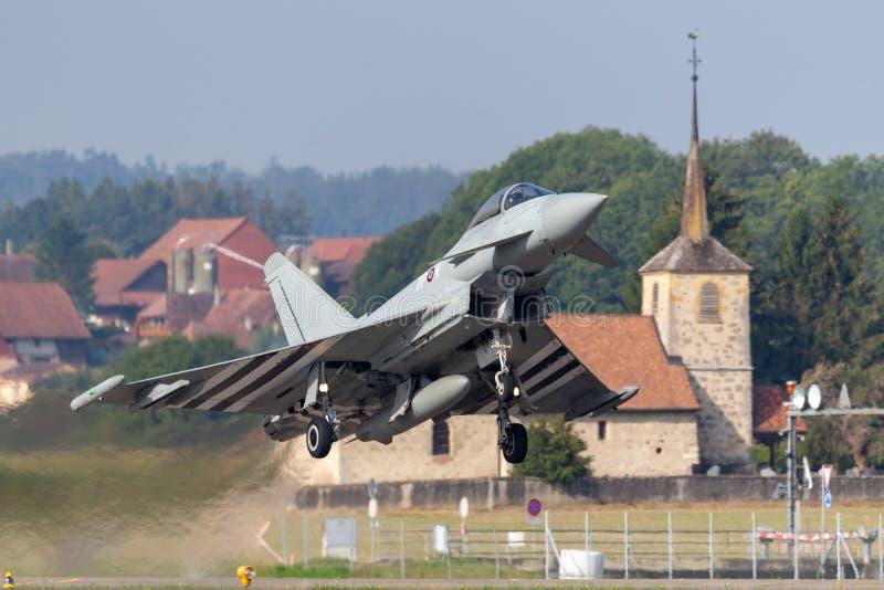 Royal Air Force RAF Eurofighter EF-2000 τυφώνας FGR4 ZK308 από το αριθ. 29R η μοίρα βάσισε RAF Coningsby στοκ εικόνες