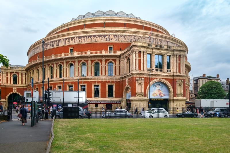 The Royal Albert Hall on a typical cloudy day in London royalty free stock photos