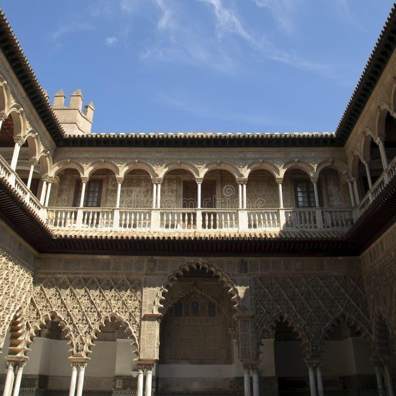 Royal Alcazar in Seville, Spain stock photography