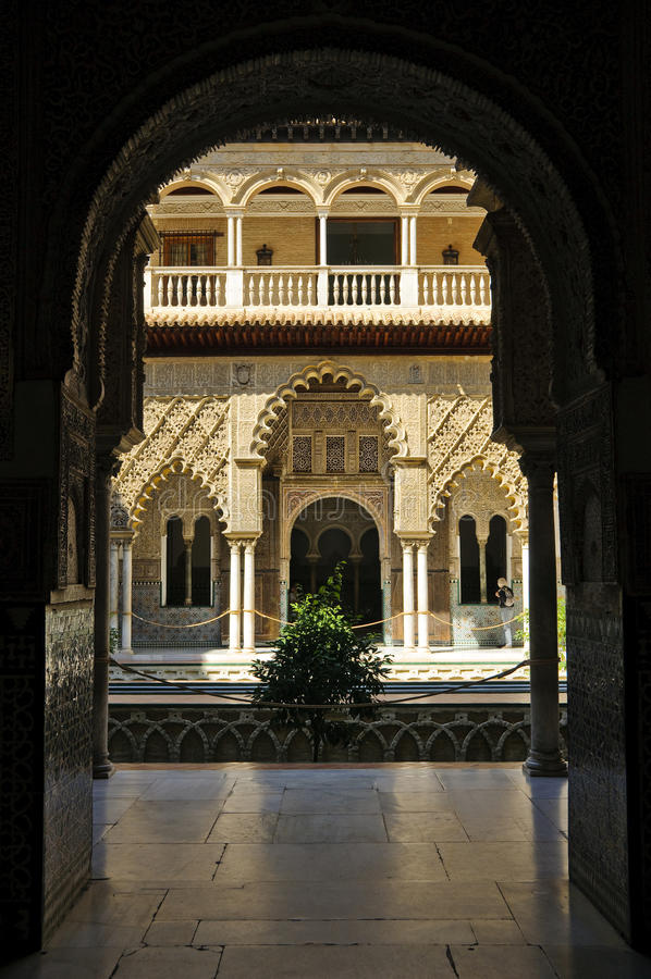 Royal Alcazar in Seville, Spain royalty free stock image