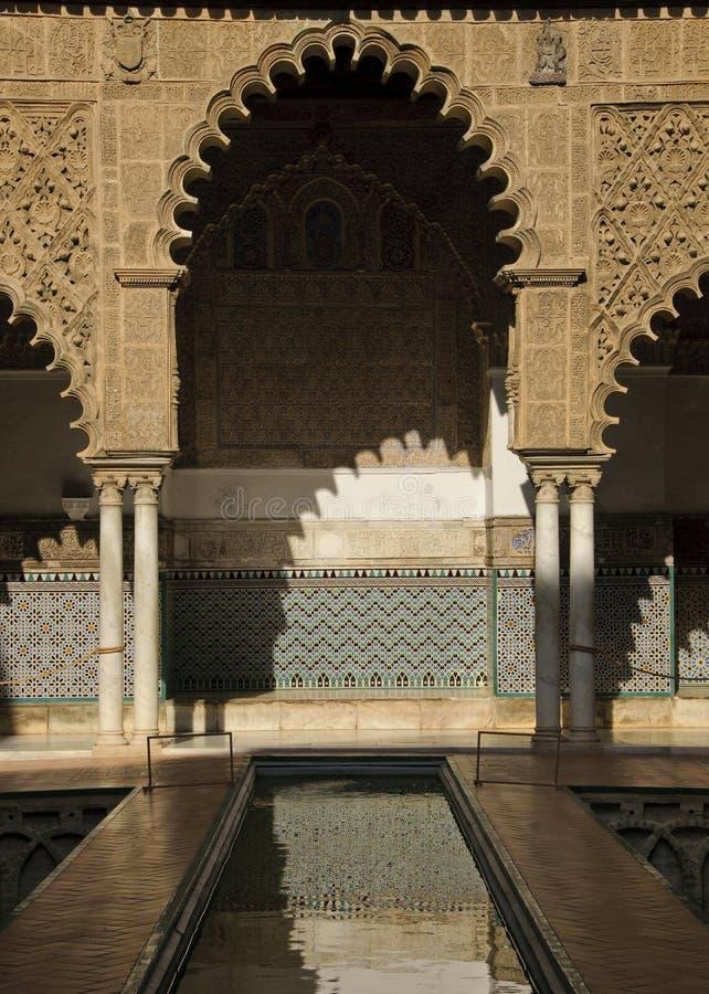 Royal Alcazar in Seville, Spain royalty free stock photography