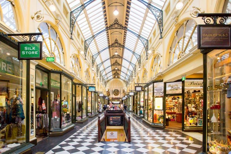 Royal Arcade Melbourne arkivfoto