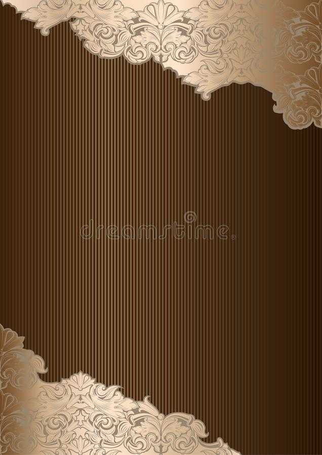 Free Royal Background In The Style Of Vintage, In Gold, Beige, Chocolate, Bronze, Coffee Shades Royalty Free Stock Image - 123375796