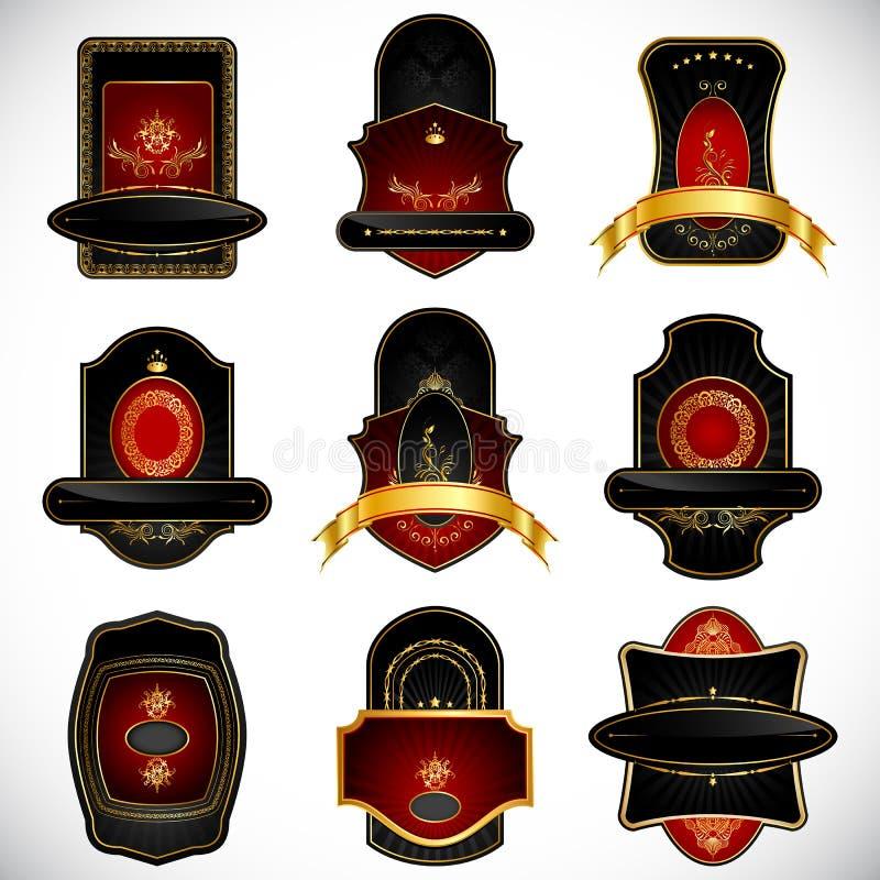 Download Royal Badge stock vector. Image of gold, ornate, decorative - 18712167