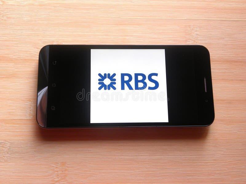 Royal Bank av den Skottland appen royaltyfri foto