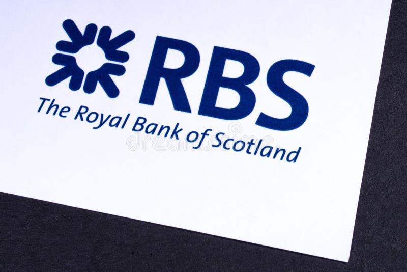 Royal Bank av den Skottland logoen royaltyfria foton