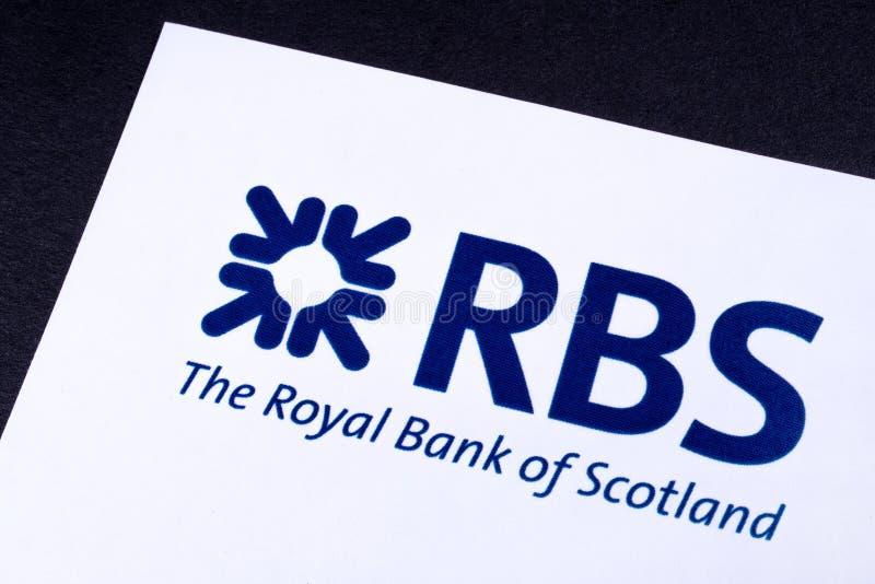 Royal Bank av den Skottland logoen royaltyfri fotografi