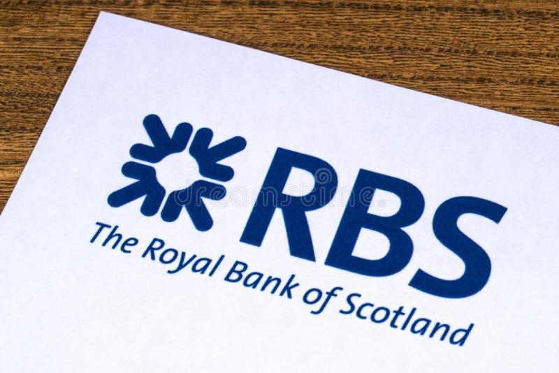 Royal Bank av den Skottland logoen royaltyfri bild