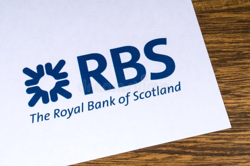 Royal Bank av den Skottland logoen arkivfoton
