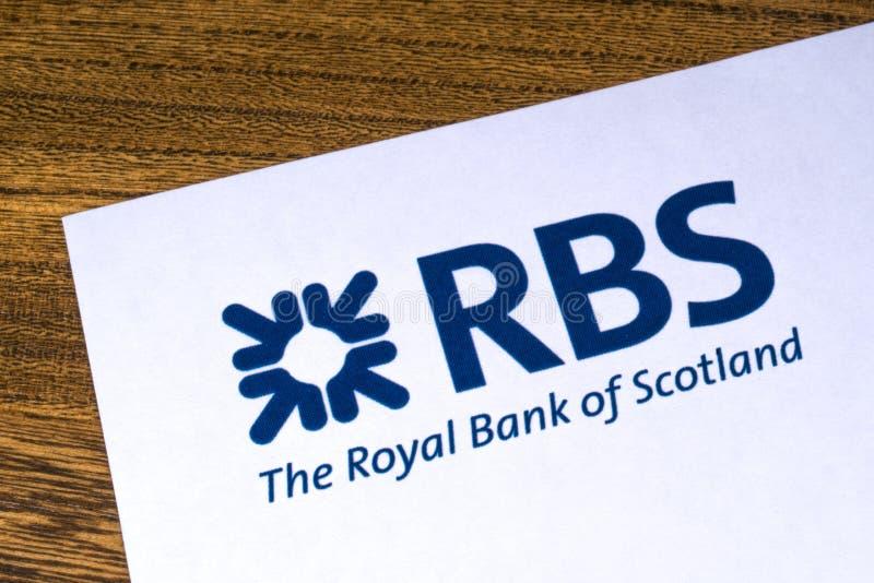 Royal Bank av den Skottland logoen arkivfoto