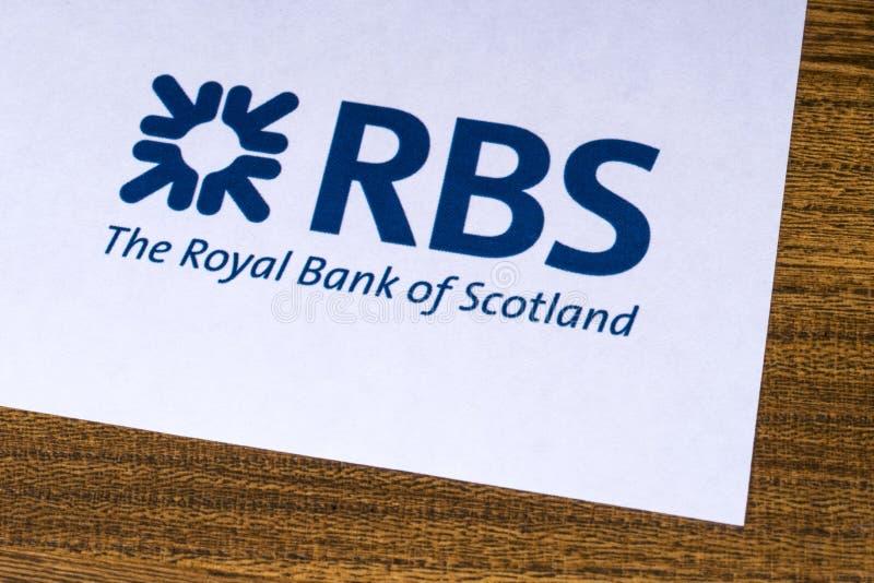 Royal Bank av den Skottland logoen fotografering för bildbyråer