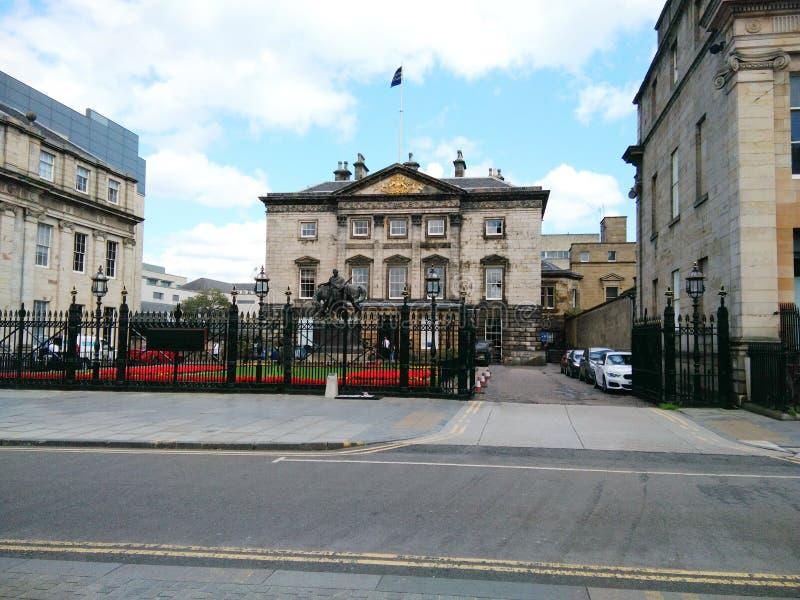 Royal Bank av Skottland byggnad på Edinburg arkivbild