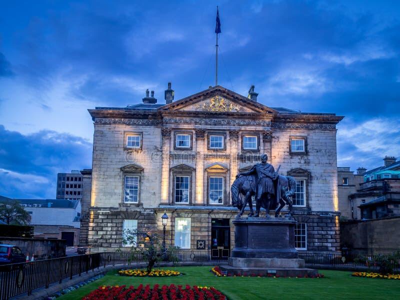 Royal Bank av Skottland högkvarter arkivbild