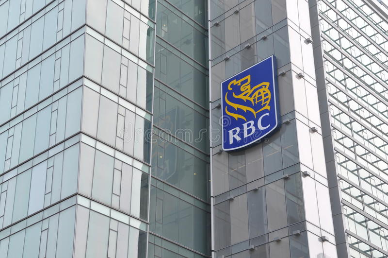 Royal Bank de signage de Canada photo libre de droits