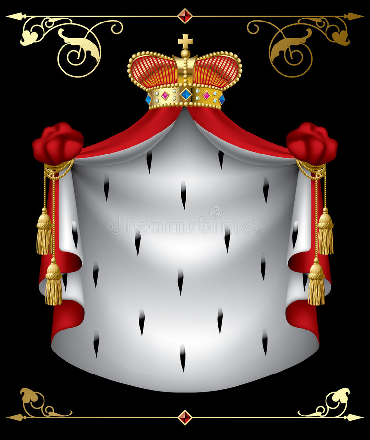 Royal banner. Isolated raster version of vector royal banner (contain the Clipping Path of all objects) There is in addition a vector format (EPS 8