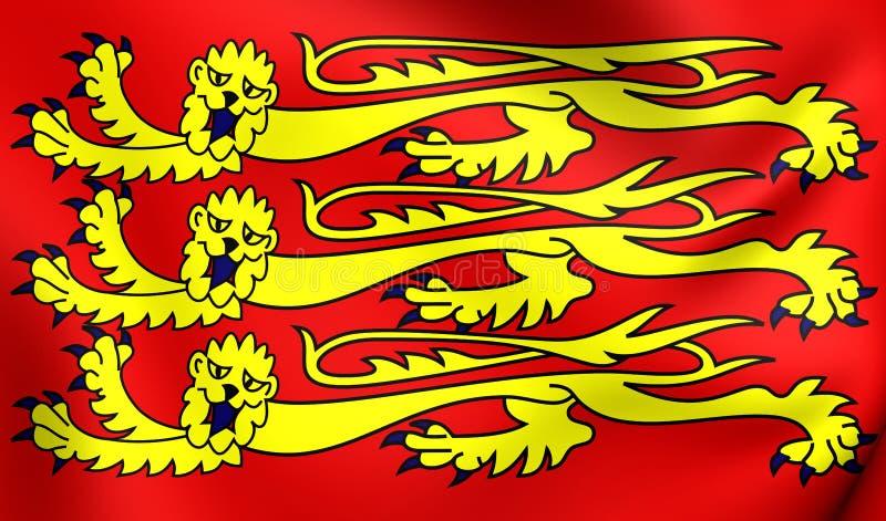 Royal Banner of England. Close Up vector illustration