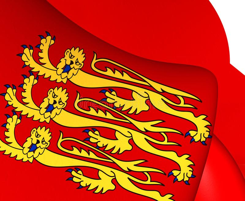 Royal Banner of England. Close Up royalty free illustration