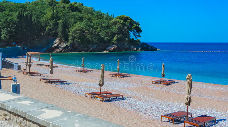 Royal beach, Milocer stock images