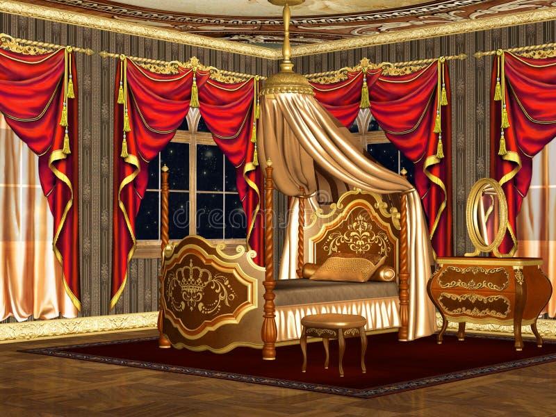 Royal bedroom vector illustration