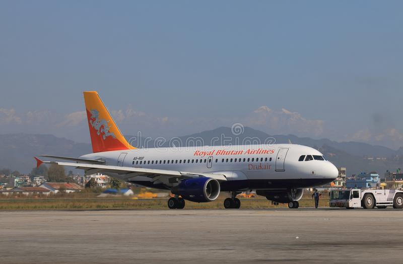 Royal Bhutan Airlines royalty free stock images