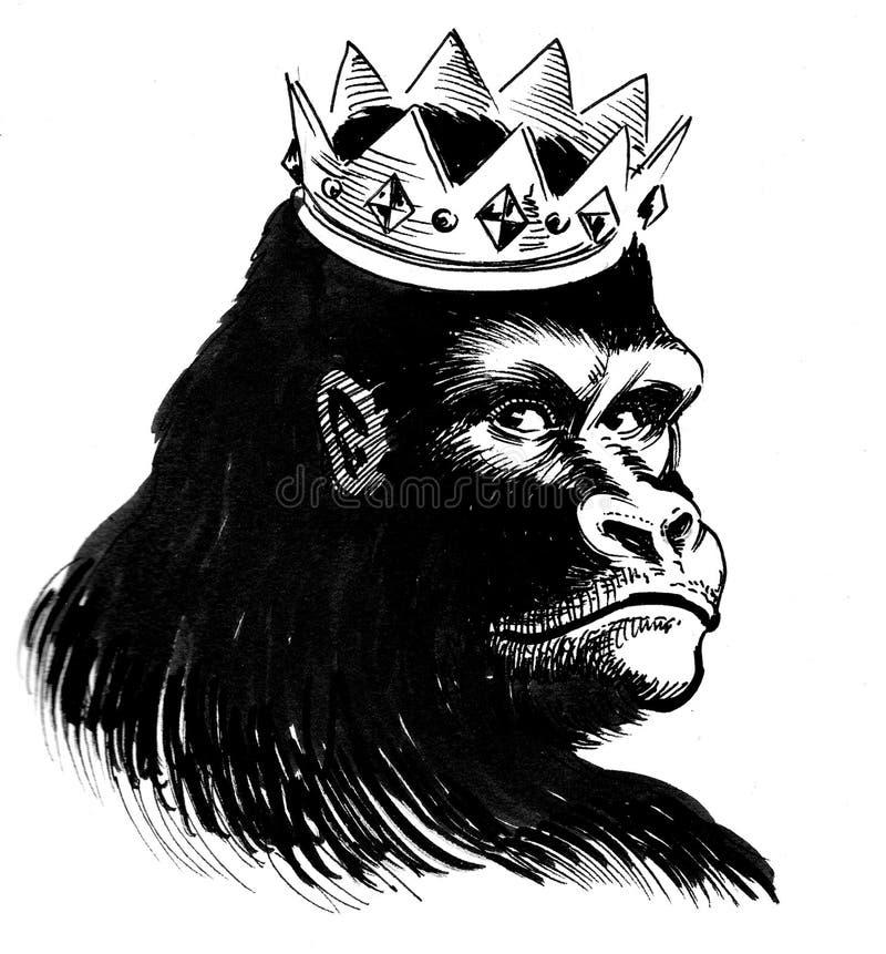 Gorilla king royalty free illustration