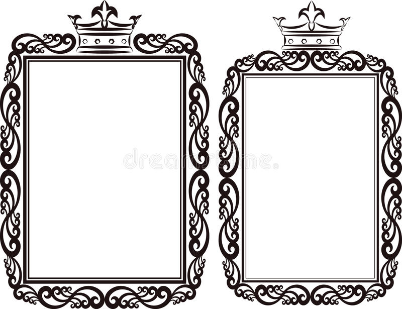 Download Royal border stock vector. Image of contour, crowns, ornament - 30893639