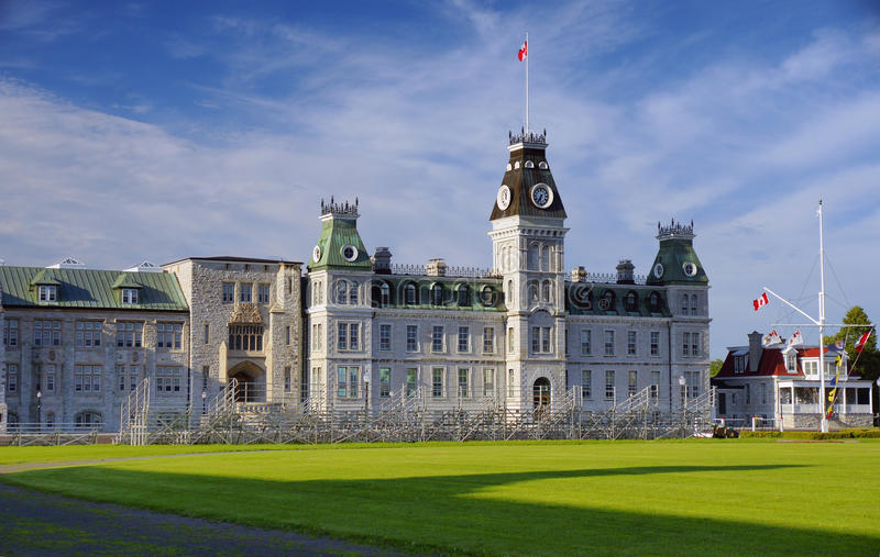 Royal Canadian Military College Kingston Ontario Public Educational Institution historic heritage building Canada royalty free stock photos