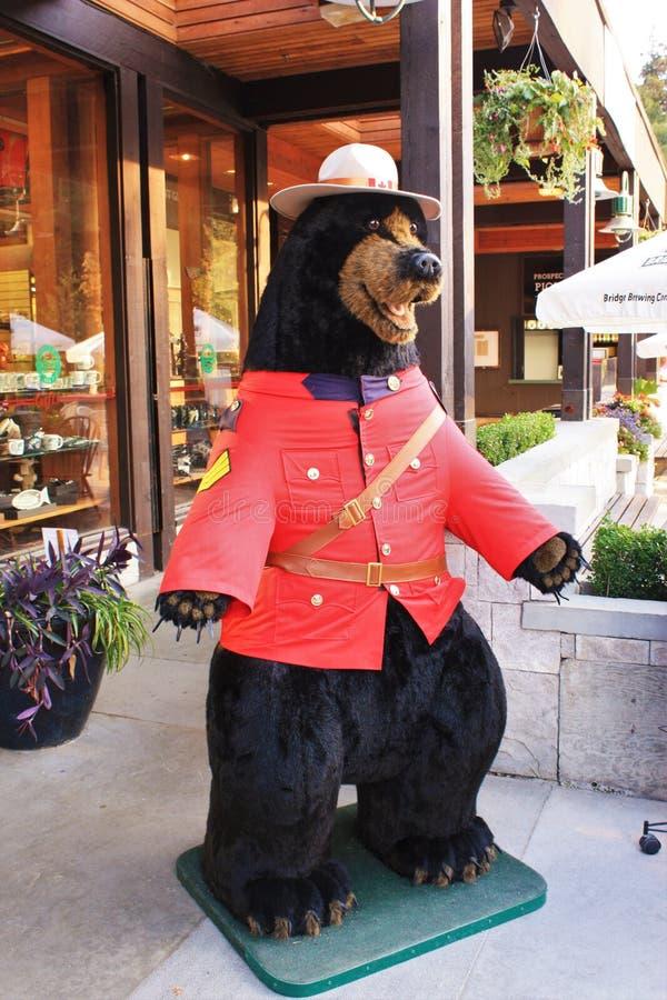 Royal Canadian Mounted Police Bear royalty free stock photo