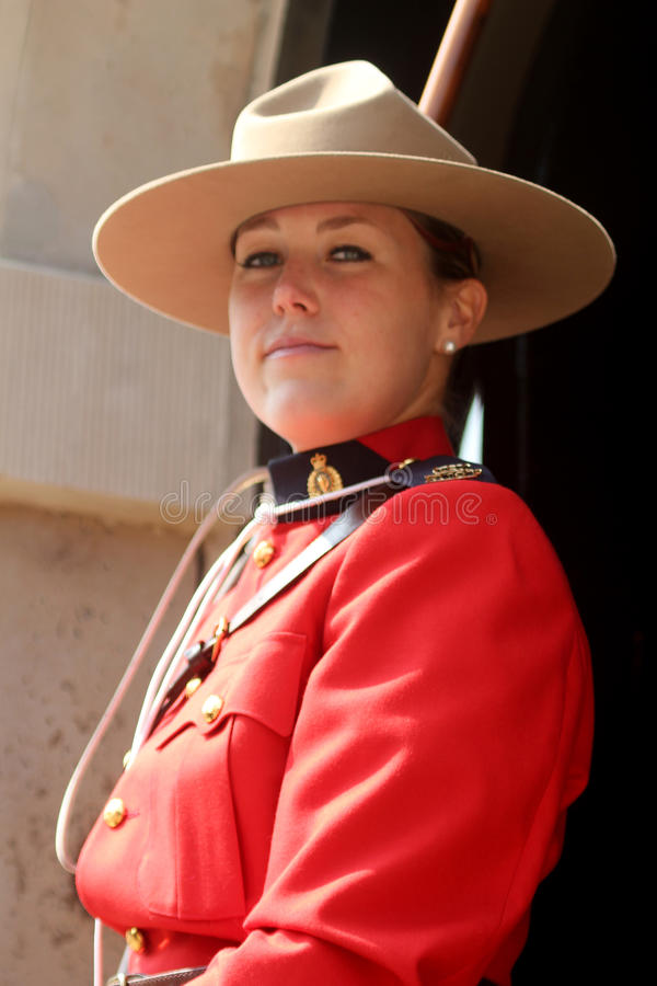 Royal Canadian Mounted Police. Horsegards London England royalty free stock images