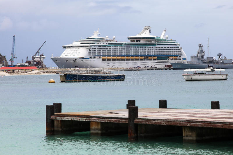 Royal Caribbean ``Adventure Off The Seas`` cruise boat royalty free stock images