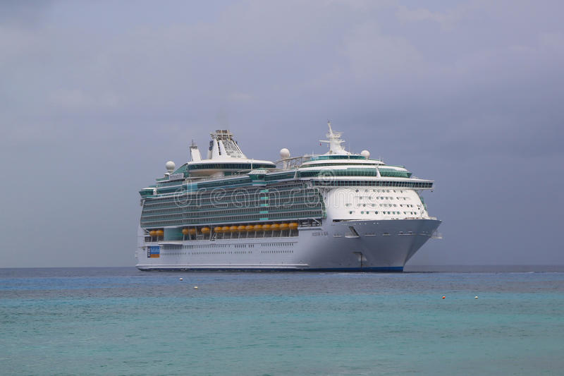 Royal Caribbean Freedom Of The Seas Cruise Ship Anchors At Port Of - Example of cruise ship