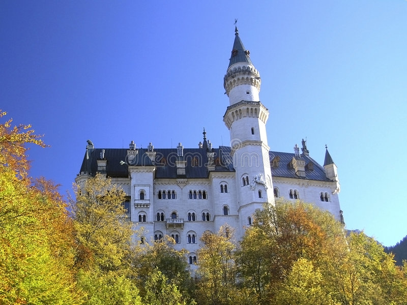 Royal castle Neuschwanstein royalty free stock images