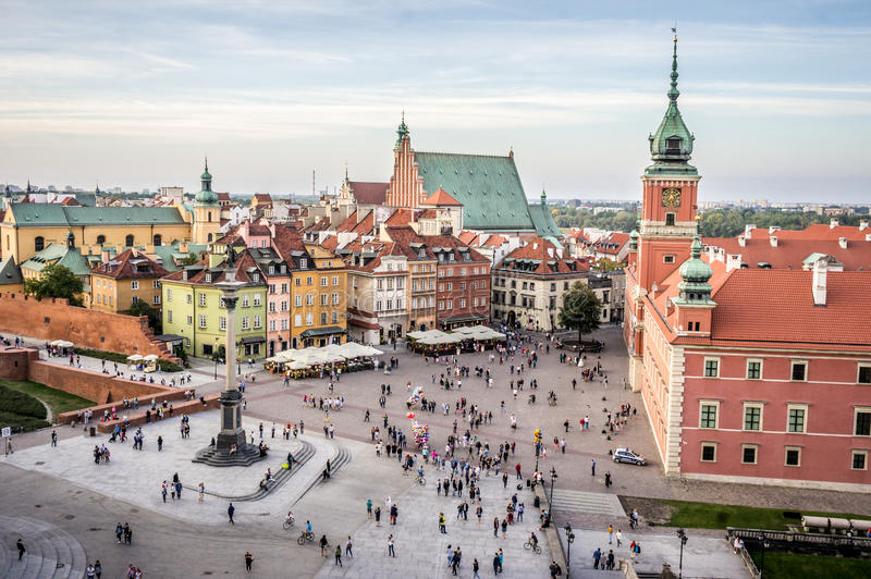 Royal Castle in Old Town, Warsaw royalty free stock photos