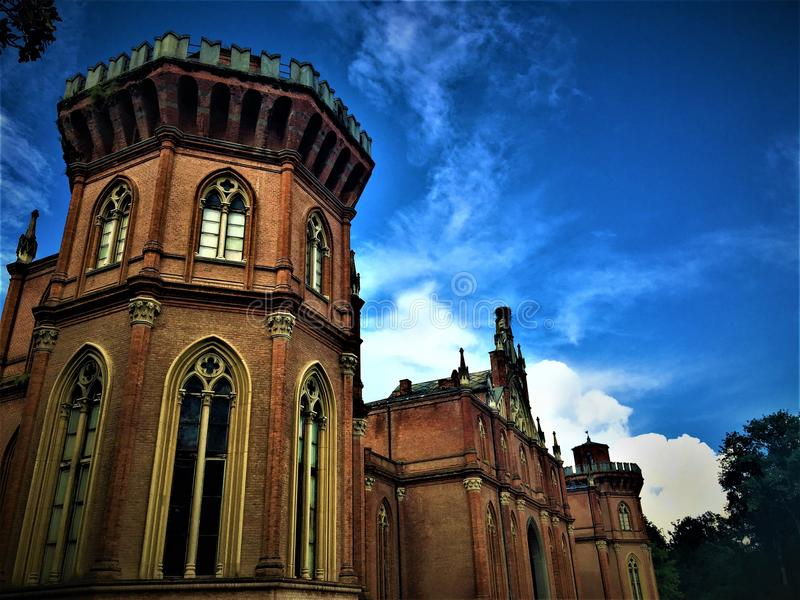 The Royal Castle of Racconigi. Italy and the sky stock photos