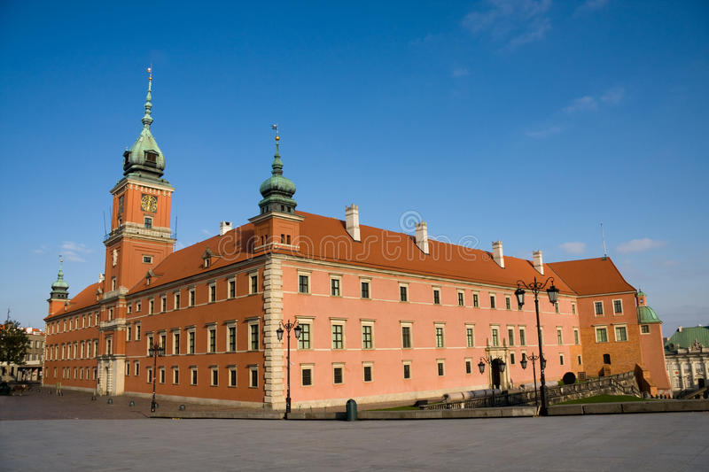 Royal Castle in Warsaw stock photo