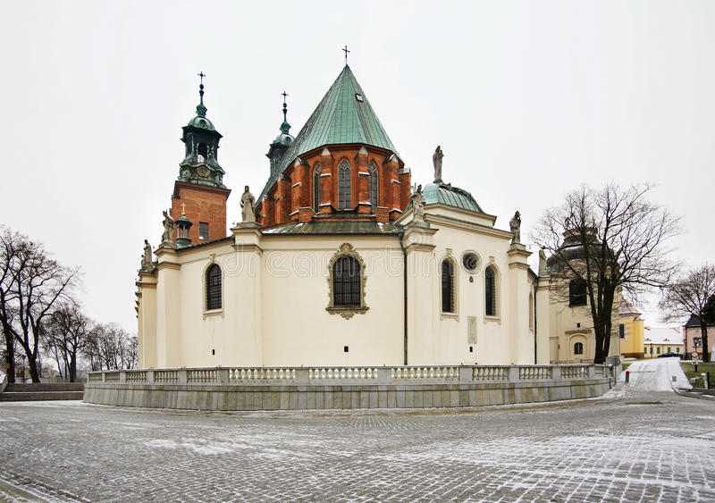 Royal Cathedral in Gniezno. Poland.  stock photos