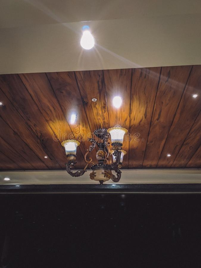 Royal Ceiling Lights royalty free stock images