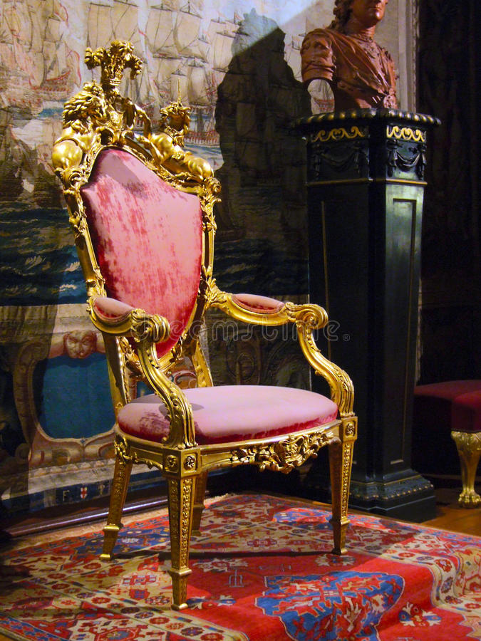Royal Chair Royalty Free Stock Photography