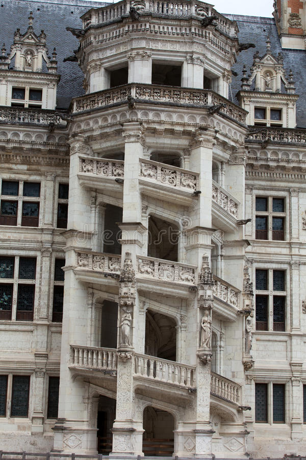 The Royal Chateau de Blois stock photography
