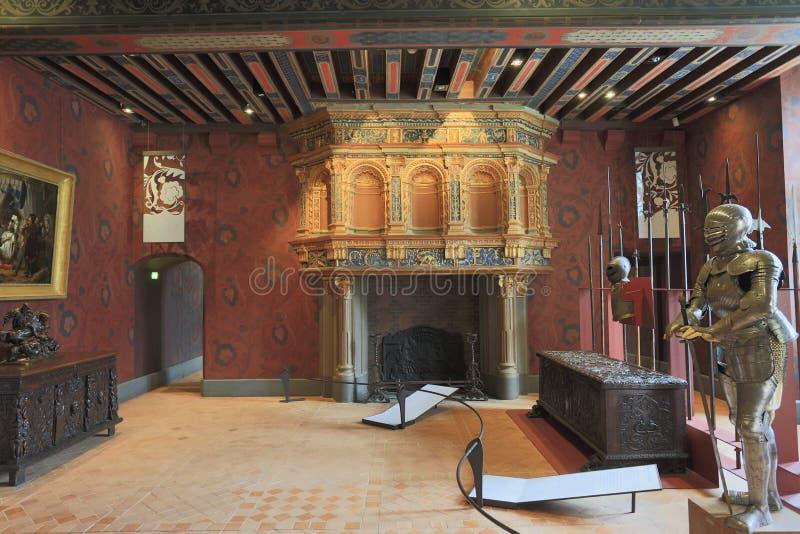 The Royal Chateau de Blois interior, France stock images