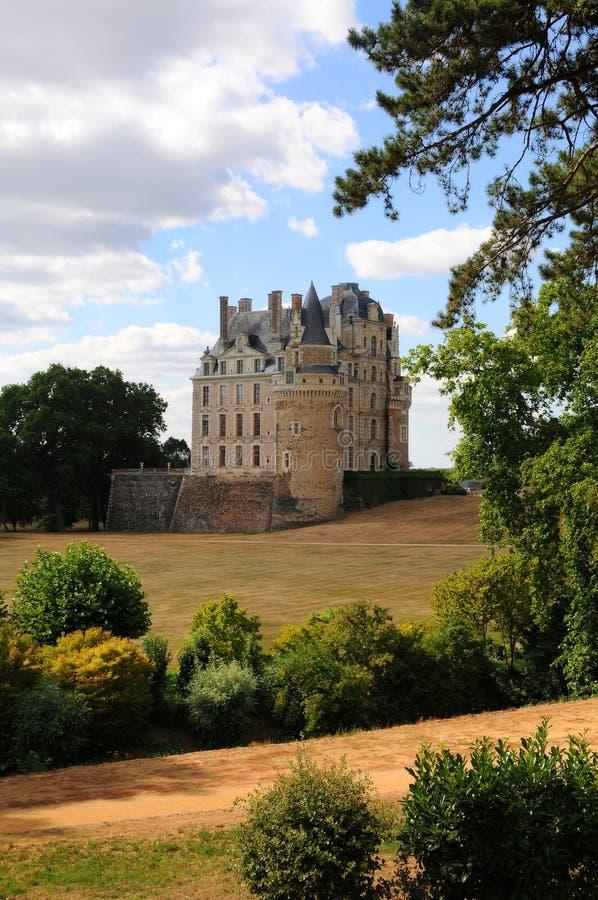The royal chateau de Brissac, Loire stock images